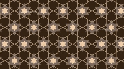 Dark Brown Star Pattern Background