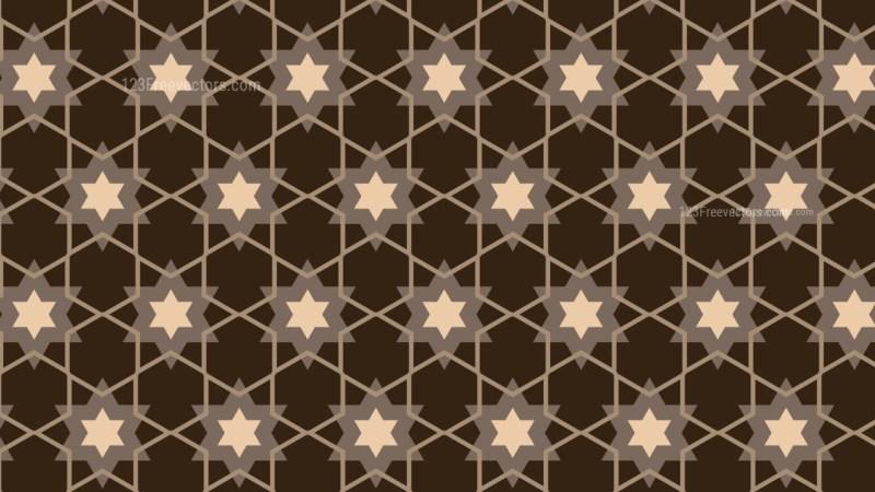 Dark Brown Star Pattern Background