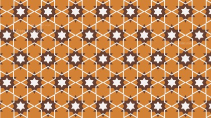 Brown Seamless Star Background Pattern