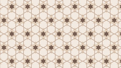 Light Brown Star Background Pattern Design