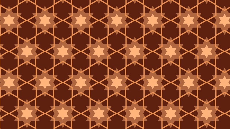 Brown Seamless Star Pattern Background Vector Graphic