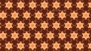 Brown Seamless Star Background Pattern Vector Image