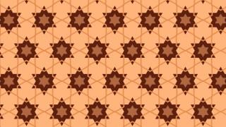 Brown Stars Pattern Illustrator