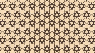 Brown Seamless Stars Pattern Vector Art