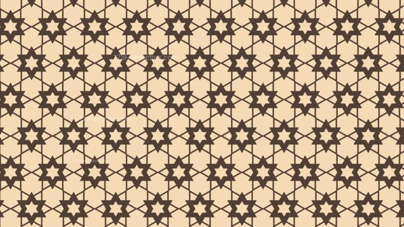 Brown Seamless Stars Pattern Vector Art