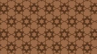 Brown Seamless Stars Background Pattern Illustration