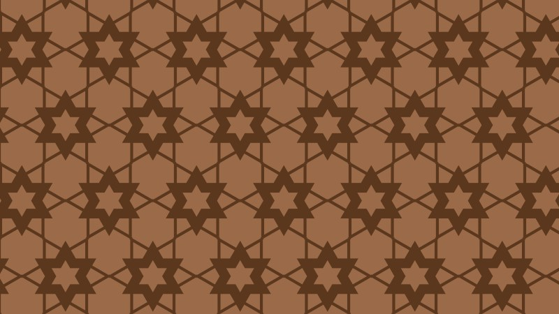 Brown Seamless Stars Background Pattern Illustration