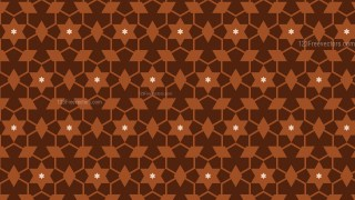 Brown Seamless Stars Pattern