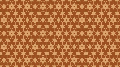 Brown Star Background Pattern Illustrator