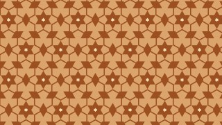 Brown Seamless Star Pattern Vector Illustration
