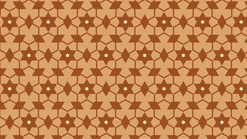 Brown Seamless Star Pattern Vector Illustration