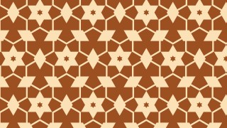Brown Seamless Star Pattern Background Vector