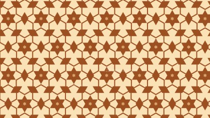 Brown Seamless Star Background Pattern Vector Art
