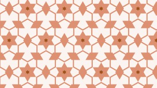 Brown Stars Background Pattern Design