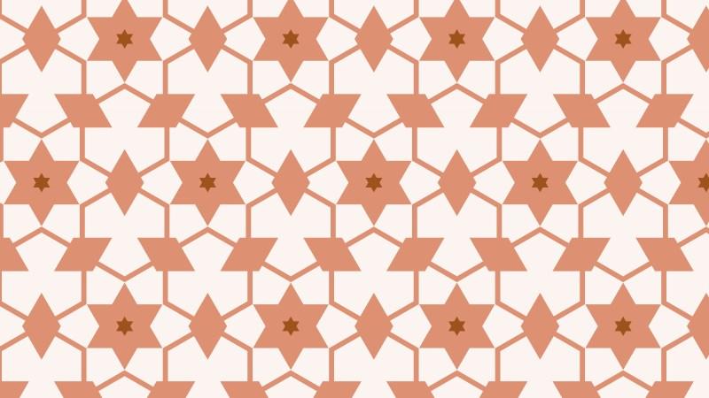 Brown Stars Background Pattern Design