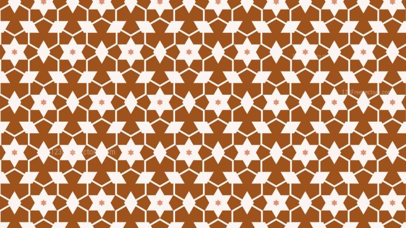 Brown Seamless Stars Pattern Image