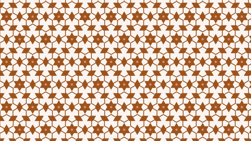 Brown Seamless Stars Pattern Background Vector Graphic