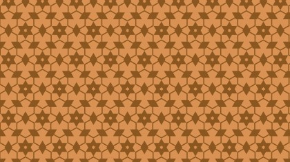 Brown Seamless Stars Background Pattern Vector Image