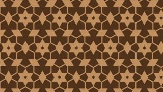 Dark Brown Star Background Pattern