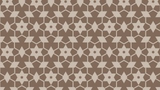 Brown Seamless Star Pattern Background