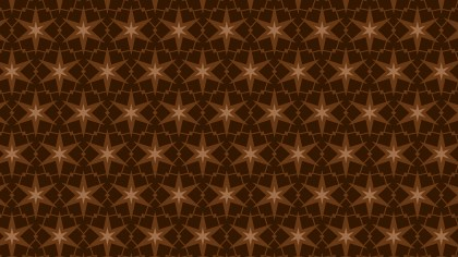 Dark Brown Stars Background Pattern