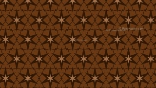 Dark Brown Seamless Stars Pattern