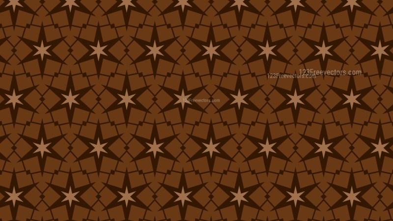 Dark Brown Seamless Stars Pattern