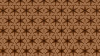 Brown Seamless Stars Pattern Background