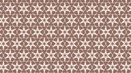 Brown Seamless Stars Background Pattern