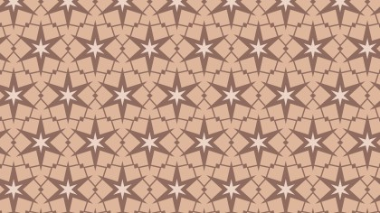 Brown Star Pattern Vector