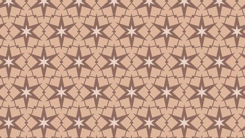 Brown Star Pattern Vector
