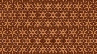Brown Seamless Star Pattern Illustration