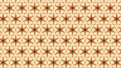 Brown Seamless Star Pattern Background Design