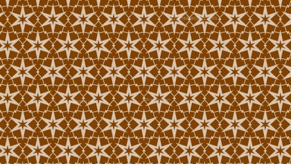 Brown Seamless Star Background Pattern Image
