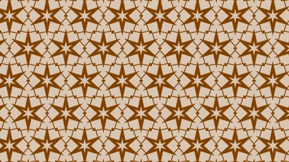 Brown Stars Pattern Vector Graphic