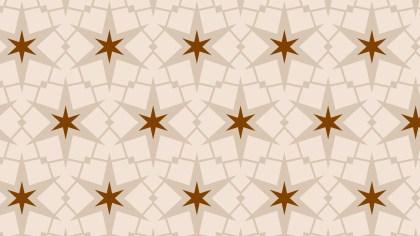 Light Brown Stars Pattern Background Vector Image