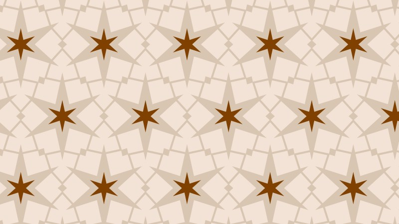Light Brown Stars Pattern Background Vector Image