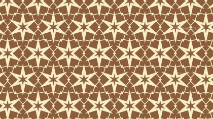 Brown Seamless Stars Pattern Vector Illustration