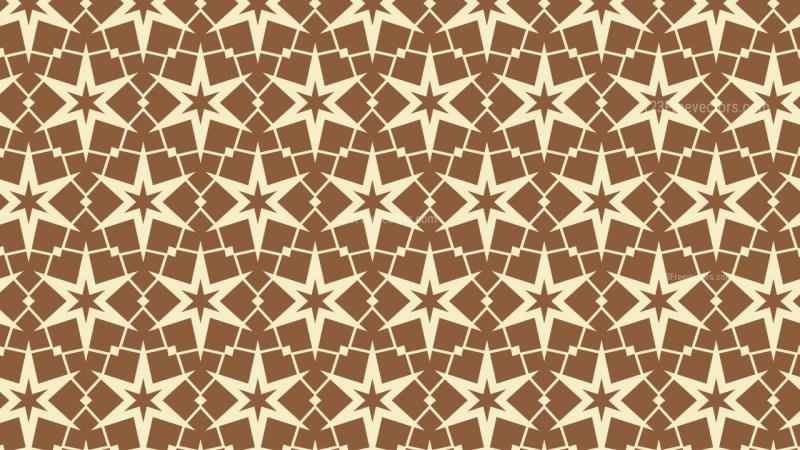 Brown Seamless Stars Pattern Vector Illustration