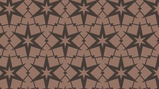 Brown Seamless Stars Pattern Background Vector