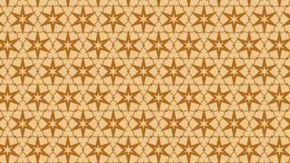 Brown Star Background Pattern