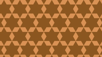 Brown Stars Pattern Background