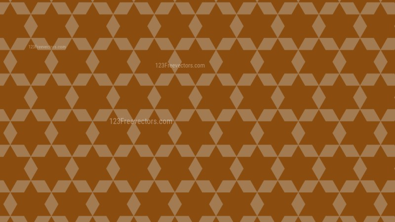 Brown Star Pattern Background Image