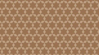 Brown Seamless Star Pattern Vector Image