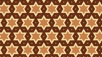 Brown Seamless Star Pattern Background Illustrator