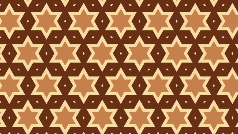 Brown Seamless Star Pattern Background Illustrator