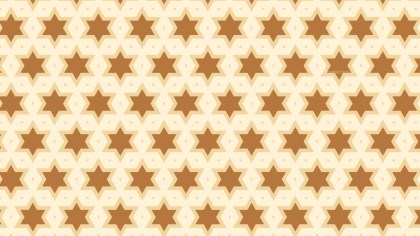 Brown Seamless Star Background Pattern Vector Illustration