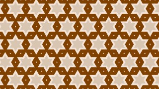 Brown Stars Pattern Vector