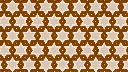 Brown Stars Pattern Vector