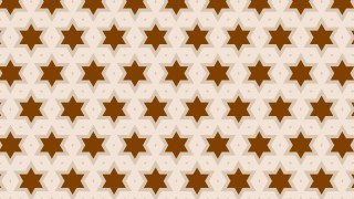 Brown Stars Pattern Background Vector Art